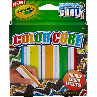 Crayola Color Core Washable Sidewalk Chalk-Assorted Colors 5/Pkg 03-5801