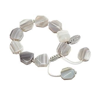Lola Rose Neva Bracelet Grey Persian Agate