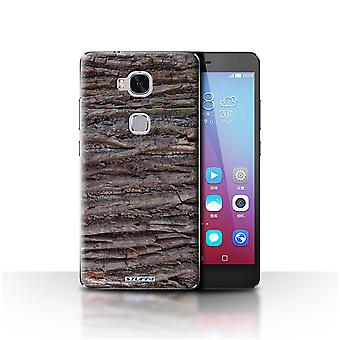 STUFF4 Case/Cover for Huawei Honor 5X/GR5/Textured/Brown/Tree Bark