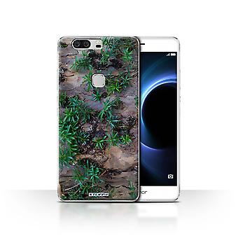 STUFF4 Case/Cover for Huawei Honor V8/Plant/Leaves/Tree Bark