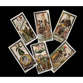 French Art Tarot Cards 15Th Century Private Collection C662  Art France  Cartes De Tarot Du 15me Sicle  Coll Part Poster Print