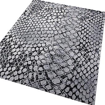 Weconhome Snake Rugs 0722 04 In Slate And Black