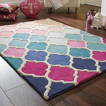 Illusie Rosella tapijten In roze en blauw