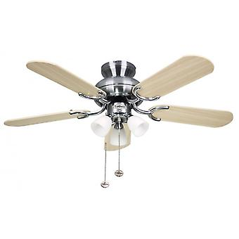 Ceiling Fan Amalfi stainless steel with lighting 91 cm / 36