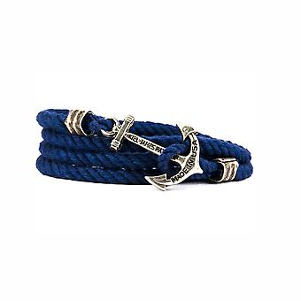Kiel James Patrick sailing camp anchor bracelet blue