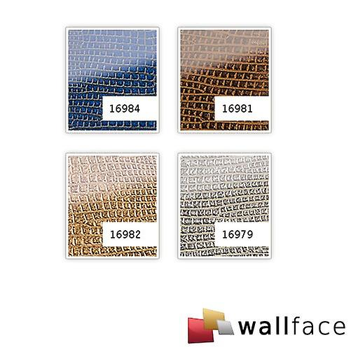 Wall Panel glass optics WallFace 16984 IGUANA luxury decor wall covering adhesive abrasion resistant dark blue | 2.60 sq m
