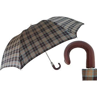 Gentlemen · umbrella · Pasotti · foldable · Brown · 218