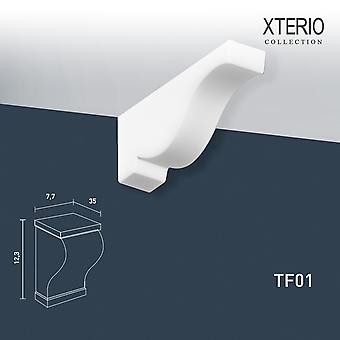 White console ORAC decor TF01 XTERIO wall bracket for canopy Zierlement timeless classic design