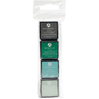 Hampton Art Dye Ink Pads 4 Colors-Tealoholic SP0110