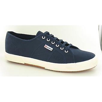 Mens Superga Canvas Lace Up Trainer 2750 - Marine, Größe 14 UK