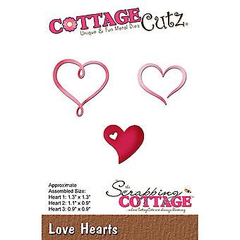 CottageCutz Die-Love Hearts, 0.9