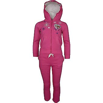 Girls Disney Frozen Elsa & Anna Tracksuit / Jogging Set