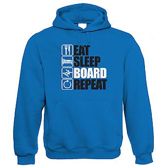 Eat Sleep Board Repeat Snowboard Hoodie (S to 5XL)
