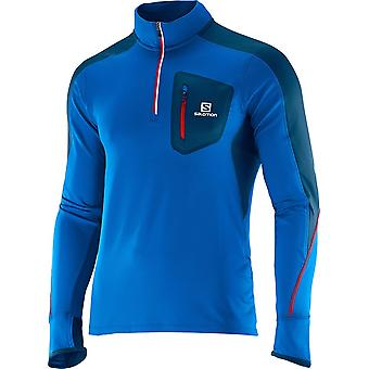Hombres de Salomon Trail Runner warm LS zip camiseta - 366947