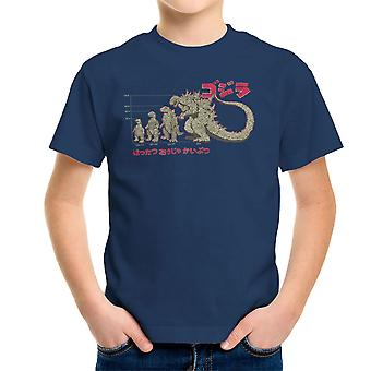 Evolutie van de koning van de Monsters Godzilla Kid's T-Shirt