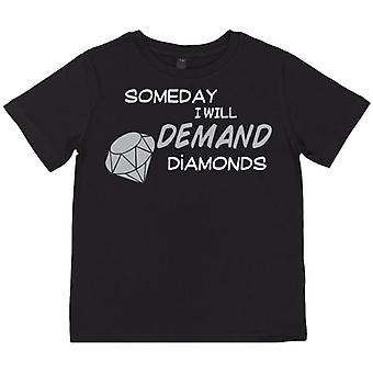 Spoilt Rotten Demand Diamonds Kid's T-Shirt