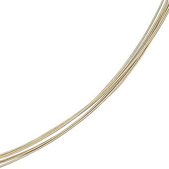 Choker necklace gold necklace 5 rows 585 Gold Yellow Gold 1 mm 42 cm long