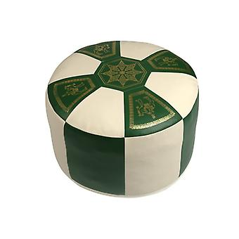 Seat cushion Orient pillows around synthetic leather green/champagne, width 50 cm height 34 cm