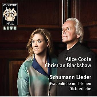 Alice Coote (mezzosopran) Christian B - Schumann: Kvinde & Manl menneskelige sjæl [CD] USA importen