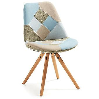 Käki Patchwork Fabric Chair Leg Käki Natural Wood (Furniture , Chairs , Chairs)