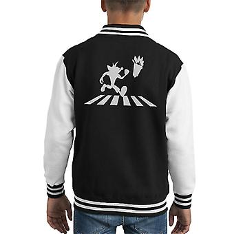 Abbey Road Beatles Album Crash Bandicoot Kid's Varsity Jacket