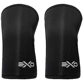 ExoSleeve 7mm neopreen compressie Fit knie mouw ondersteunt - Black