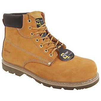 Grafters Mens Padded Safety Toe Cap Boots