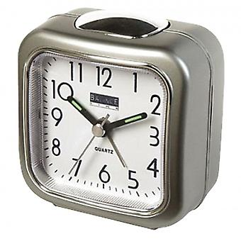 Balance Quartz Alarm Clock Analogue Silver/White