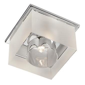 Searchlight 8050R-1CC Surface 1 Light Ceiling Downlighter In Chrome With Frosted Glass