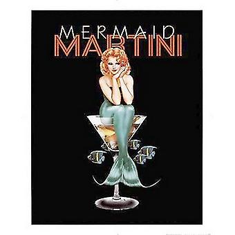 Mermaid Martini Poster Print by Ralph Burch (16 x 20)