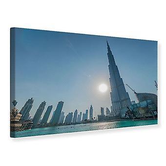 Canvas Print Skyscraper Architecture Dubai