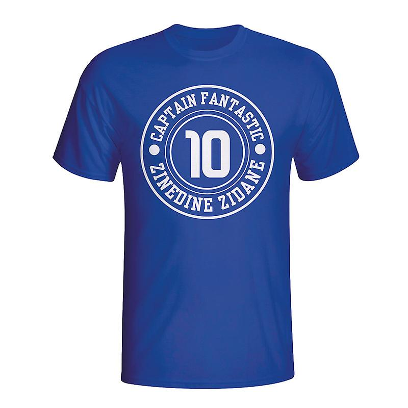 Zinedine Zidane France Captain Fantastic T-shirt (blue)