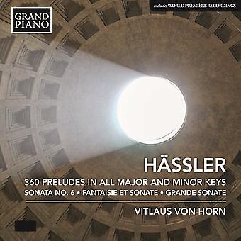 Hassler - 360 Præludier [CD] USA importerer