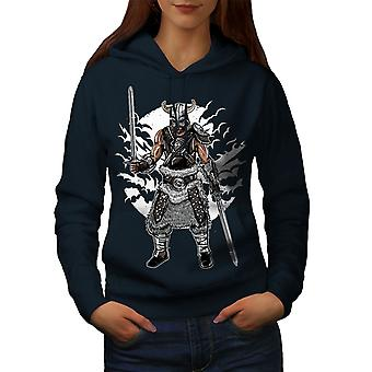 North Warrior Women NavyHoodie | Wellcoda