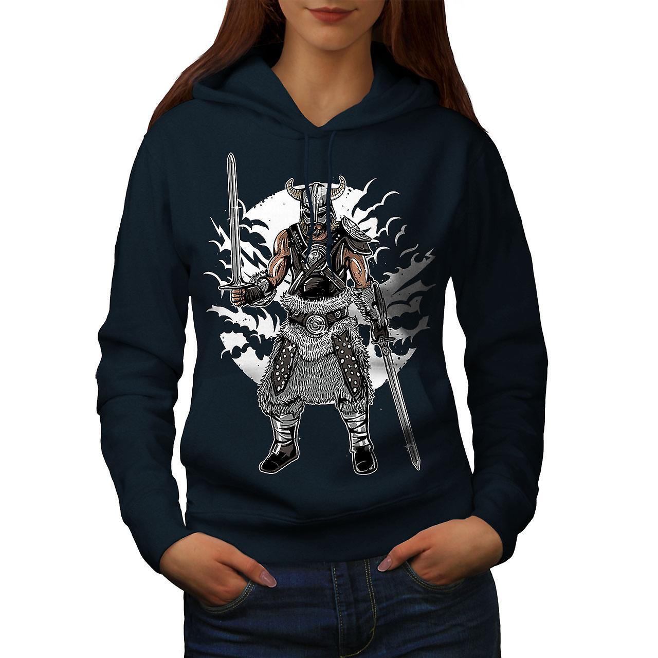 North Warrior Women NavyHoodie | Wellcoda