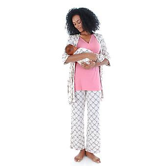 Roxanne 5-pc. Nursing PJ Set with Baby Gown & Gift Bag