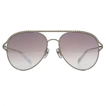 Marc Jacobs Metall Twist Pilot Sonnenbrillen In Palladium weiß