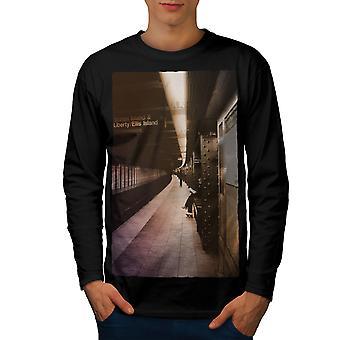 New York Metro Urban Men BlackLong Sleeve T-shirt | Wellcoda