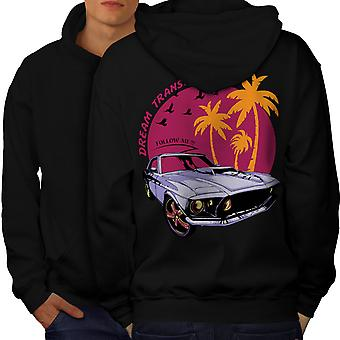 America Muscle Car Men BlackHoodie Back | Wellcoda