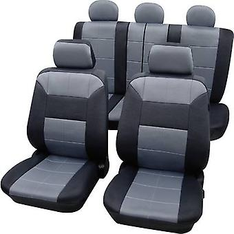 Petex 22574918 Dakar SAB 1 Vario Plus Seat covers 17-piece Polyester Grey, Black