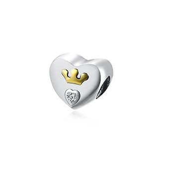 Heart Crown and Crystal Bead charms