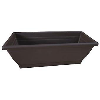 Nortene Elenia balcony planter made of polypropylene 47.5x19.5x18 cm