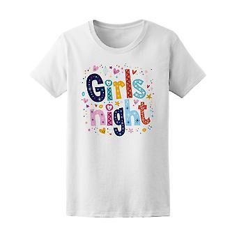 Girls Night Fun Background Tee Women's -Image by Shutterstock