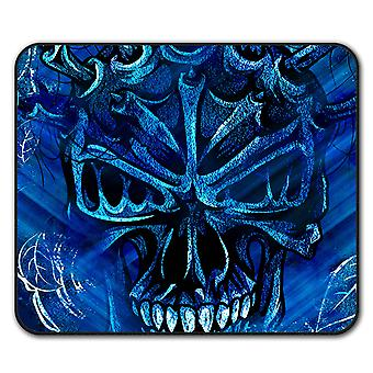 Azul calavera rosa ratón antideslizante alfombra Pad 24 cm x 20 cm | Wellcoda