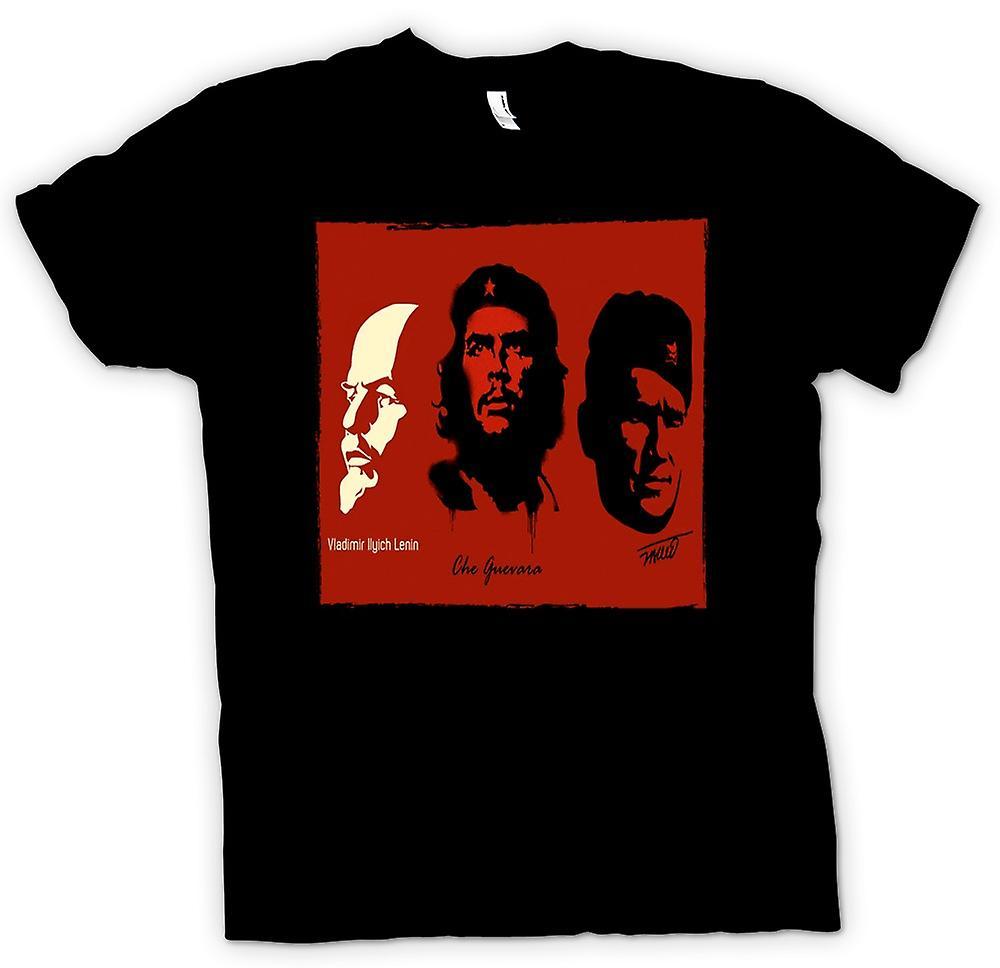 Mens T-shirt - Communist Heros - Lenin Guevara