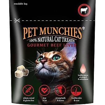 Pet Munchies Cat Treats Gourmet Beef Liver 10g, pack size 8
