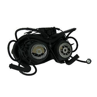 Паровая видение Черный стимпанк глаза Фантом Goggle маска