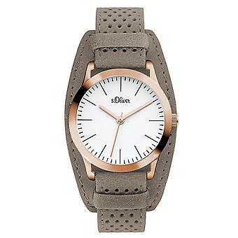 s.Oliver Damen Uhr Armbanduhr Leder SO-3221-LQ