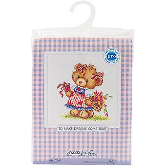 To Make Dreams Come True Counted Cross Stitch Kit-6.25