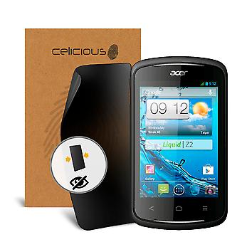 Celicious Privacy 2-Way Visual Black Out Screen Protector for Acer Liquid Z2